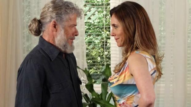 Pereirinha (José Mayer) e Tereza Cristina (Christiane Torloni) terão um caso em <em>Fina Estampa</em>