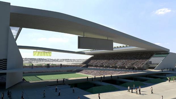 Novas imagens do estádio do Corinthians