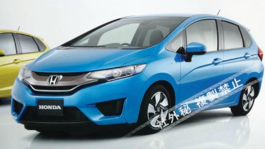 Fotos do que seria a nova geração do Honda Fit foram extraídas de um catálogo oficial da Honda japonesa
