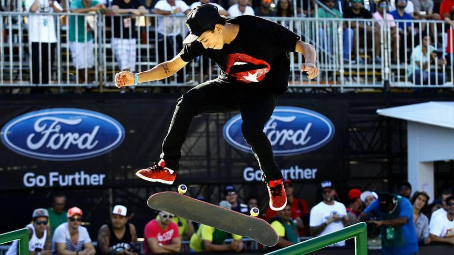 Nyjah Huston levou o ouro na modalidade do Skate Street no X Games Foz do Iguaçu