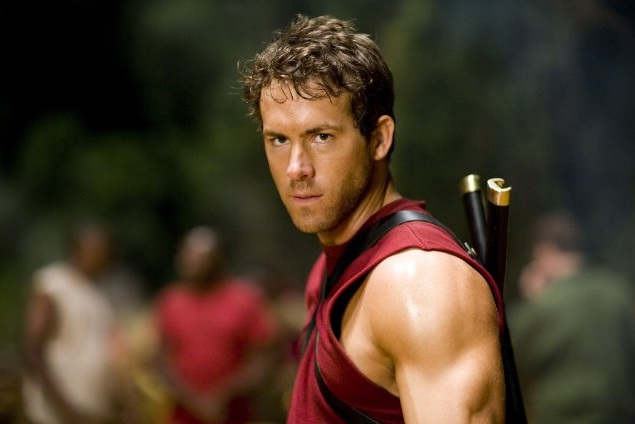 O ator Ryan Reynolds como Deadpool em 'X-Men Origens: Wolverine', de 2009