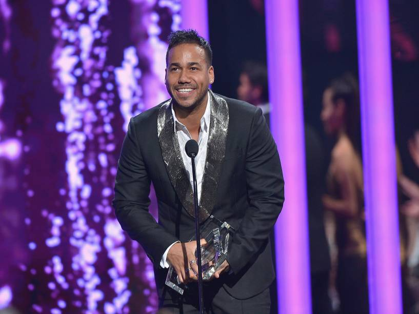 O cantor Romeo Santos no prêmio Billboard da Música Latina