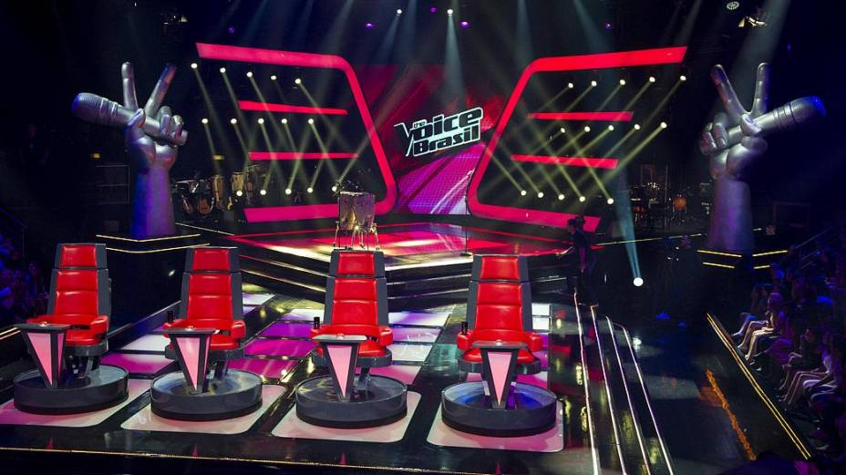 O estúdio do The Voice Brasil