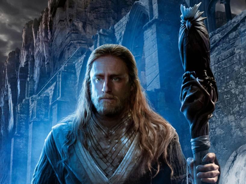 O mago Medivh (Ben Foster) no filme Warcraft