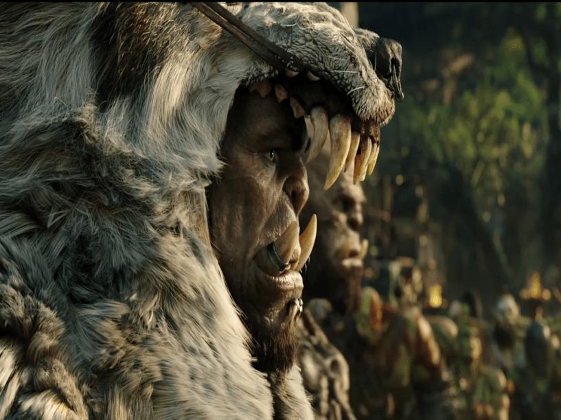 O orc Durotan (interpretado pelo ator Toby Kebbell) em Warcraft