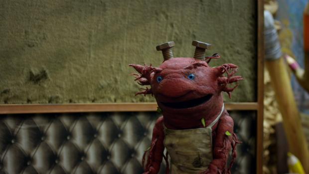 O personagem Morgume na série Que Monstro Te Mordeu?, de Cao Hamburger e Teodoro Poppovic, da TV Cultura