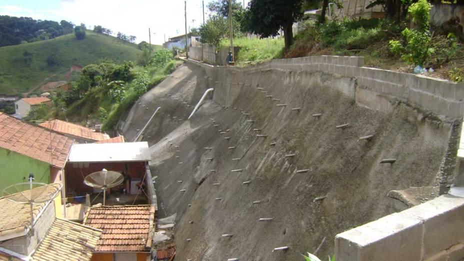 Obras de contenção foram realizadas em áreas com alto risco de deslizamento