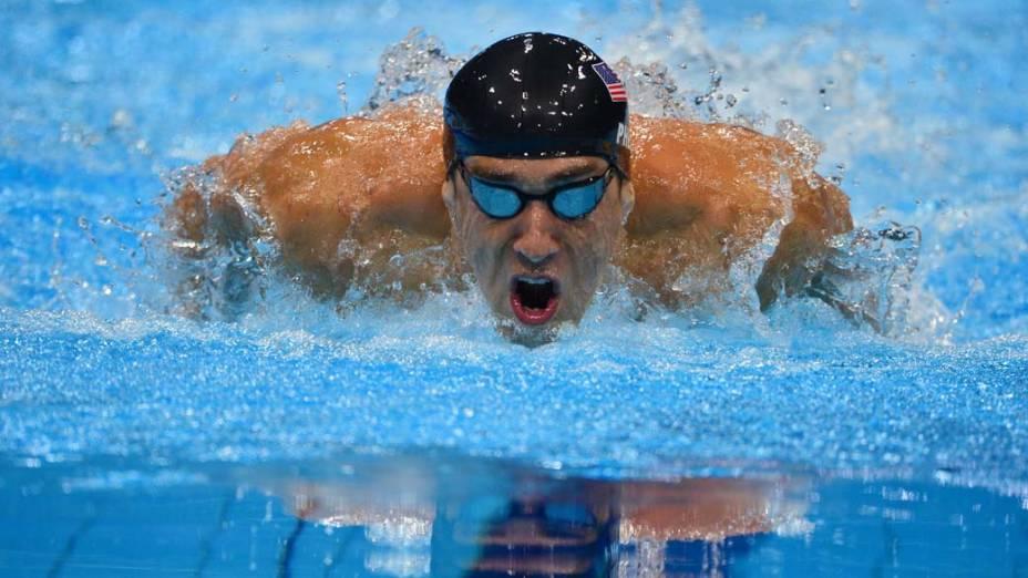 O americano Michael Phelps, medalha de prata nos 200m borboleta, em 31/07/2012