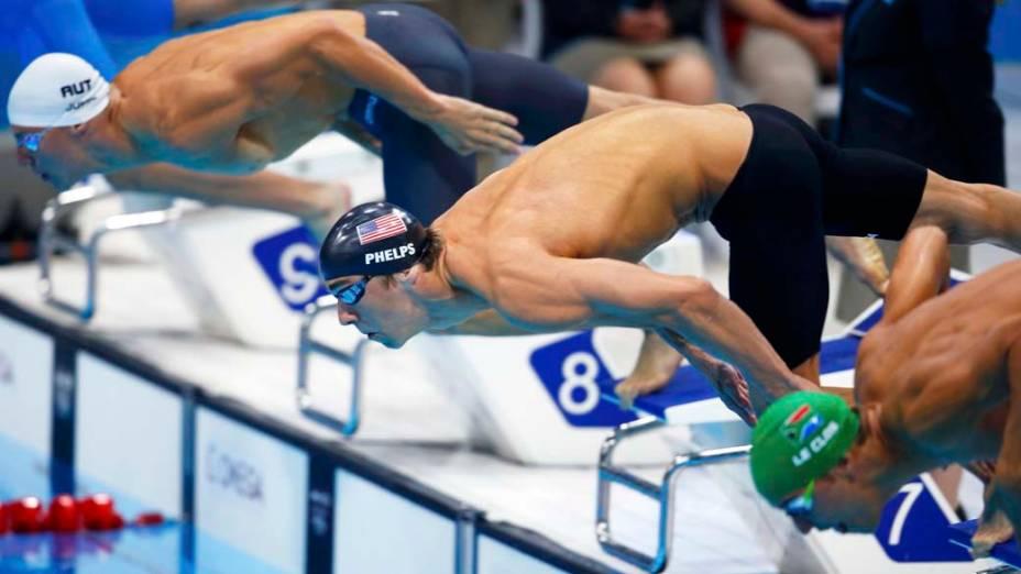 Michael Phelps nos 200m borboleta, em 31/07/2012
