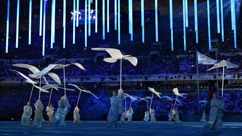 Cerimônia de encerramento dos Jogos Olímpicos de Inverno de Sochi, na Rússia