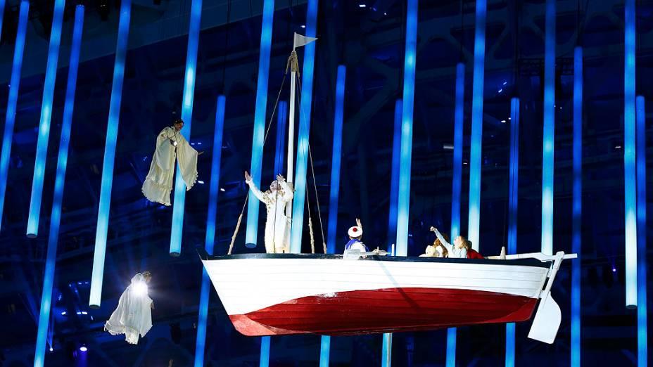 Cerimônia de encerramento dos Jogos de Sochi, na Rússia