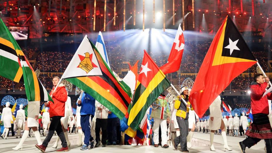 Cerimônia de encerramento das Olímpidas de Inverno de Sochi