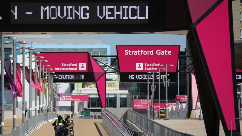 O Parque Olímpico de Londres depois da conclusão dos Jogos de 2012