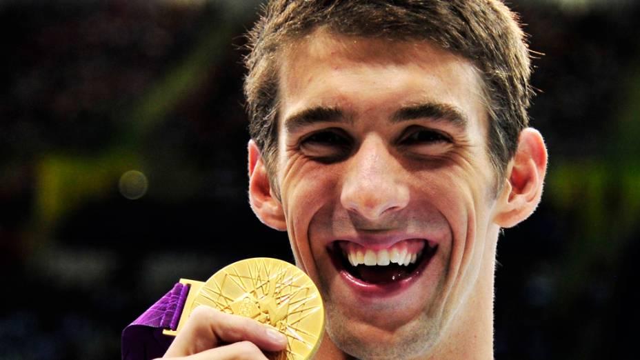 Michael Phelps conquistou a medalha de ouro nos 100m borboleta, ampliando para 21 o total de pódios olímpicos em 03/08/2012