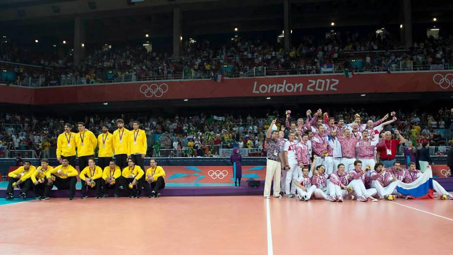 Final do vôlei entre Brasil e Rússia nos Jogos Olímpicos de Londres 2012