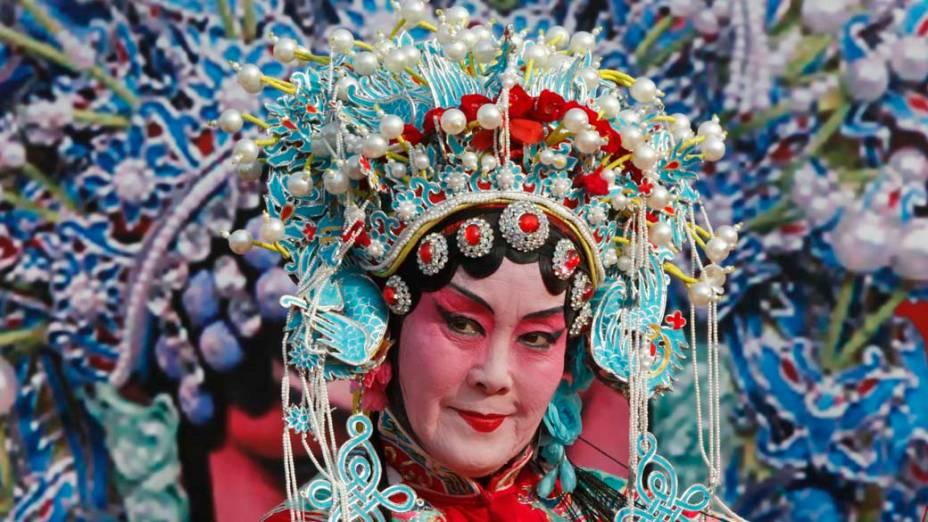 Apresentação de ópera nas celebrações do Ano do Coelho no zodíaco chinês, Pequim