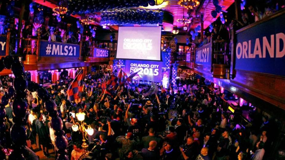 A festa pela entrada do Orlando City na MLS, na noite de terça-feira