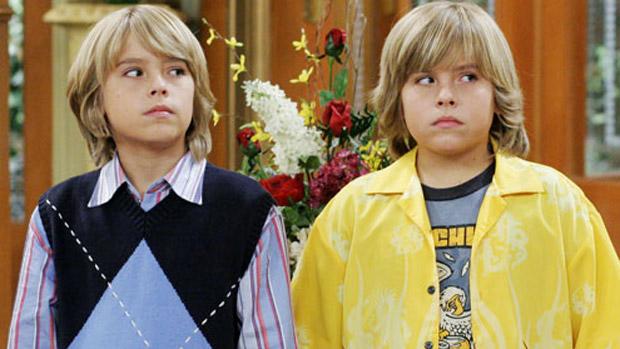 Os irmãos gêmeos Cole e Dylan Sprouse, da série Zack & Cody, da Disney
