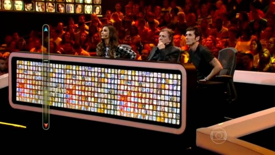 Os jurados Ivete Sangalo, Fábio Jr. e Dinho Outro Preto, na estreia de SuperStar