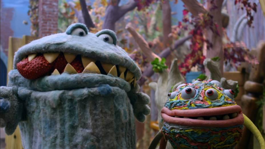 Os personagens Gorgo e Dedé, do seriado da TV Cultura Que Monstro te Mordeu?