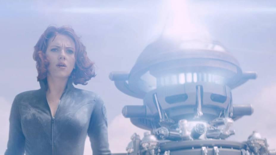Scarlett Johansson como Viúva Negra no filme Os Vingadores