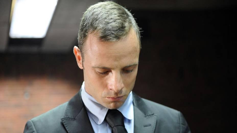 Oscar Pistorius no segundo dia da audiência para seu pedido de fiança, em Pretória