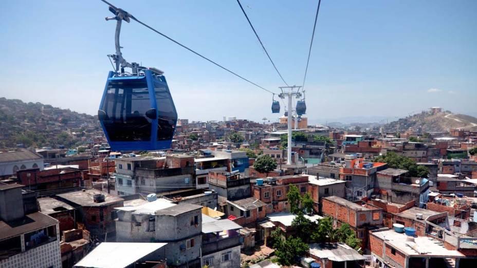 Teleféricos no Complexo do Alemão, no Rio de Janeiro