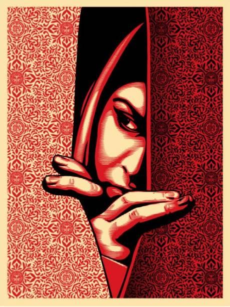 As mulheres palestinas são parte de uma série completa feita por Shepard Fairey