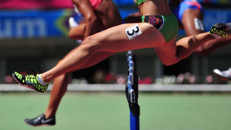 Atletas durante prova de heptatlo, no décimo primeiro dia dos Jogos Pan-Americanos em Guadalajara, México, em 25/10/2011