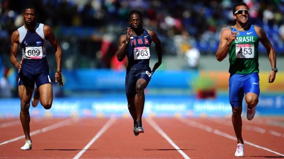 Prova masculina de corrida de 200 m, no décimo segundo dia dos Jogos Pan-Americanos em Guadalajara, México, em 26/10/2011