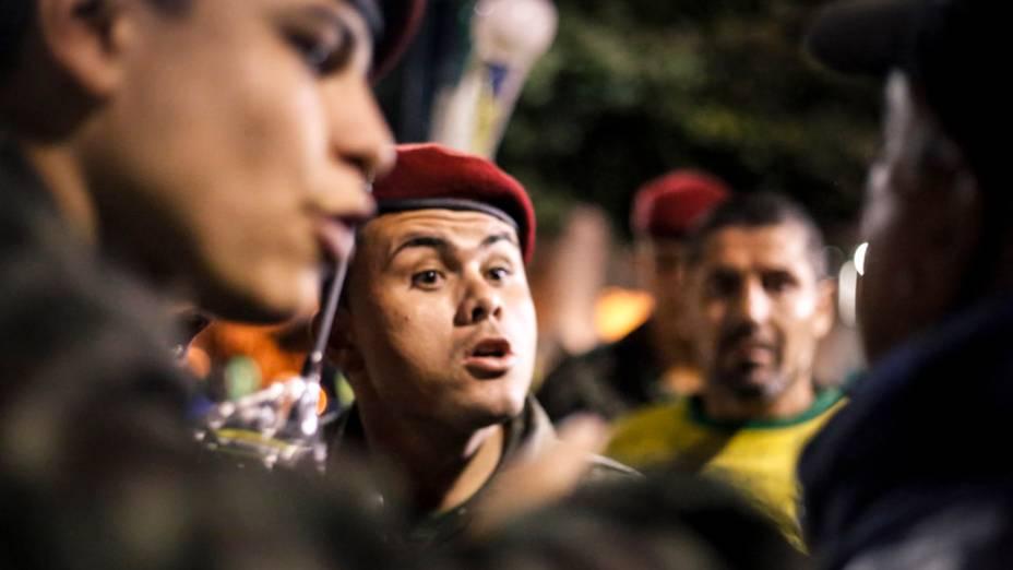 Movimentação policial durante a JMJ, em Copacabana