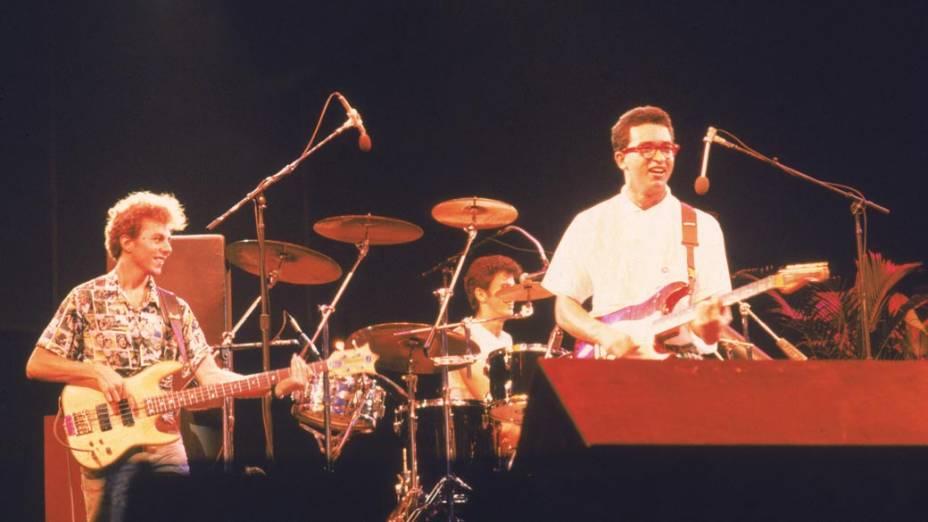 """Apresentação do """"Paralamas do Sucesso"""" no Rock In Rio I, 1985"""