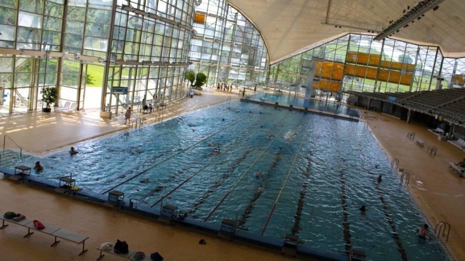 A piscina onde Mark Spitz conquistou sete ouros em Munique. Durante o sequestro dos atletas, Spitz, que é judeu, retornou às pressas para os Estados Unidos - temia-se que ele poderia ser outro alvo dos palestinos