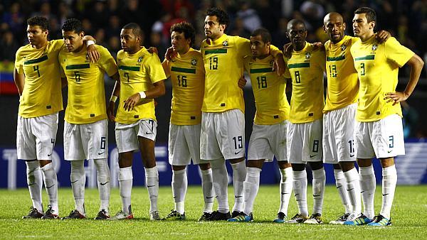 Parte da seleção brasileira na eliminação da Copa América
