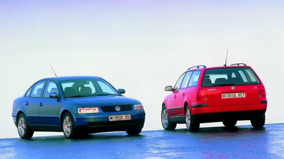 A quinta geração do Passat foi lançada em 1997 na Europa e exibia linhas arredondadas