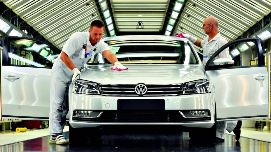 Além da fábrica da VW de Zwickau, na Alemanha, o Passat é fabricado em Chattanooga, nos EUA, e em Xangai, na China