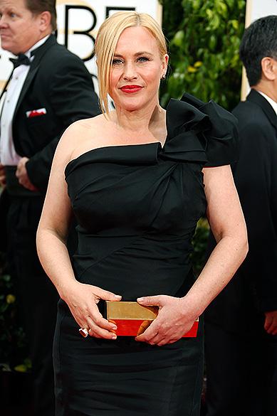 A atriz Patricia Arquette durante 72ª edição do Globo de Ouro, prêmio da associação de correspondentes de Hollywood que elege os melhores do cinema e da TV, em Los Angeles, nos EUA