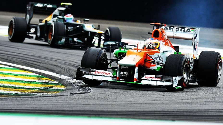Paul Di Resta, durante treino classificatório para o GP do Brasil