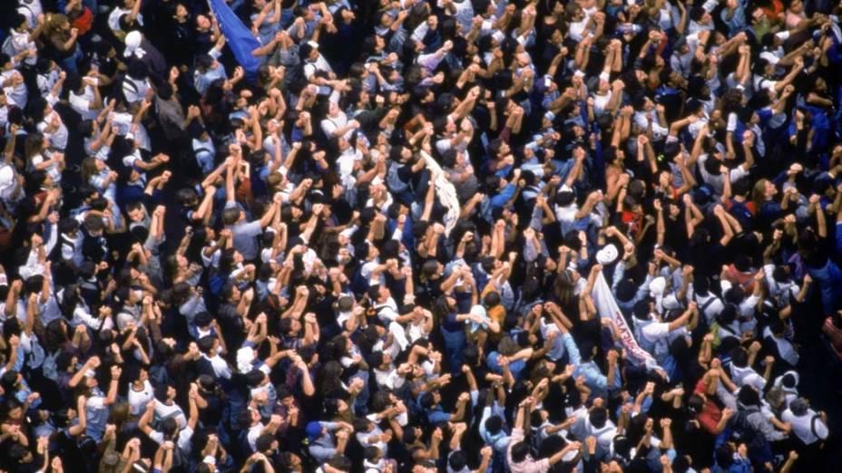 Manifestação pela saída do presidente Fernando Collor
