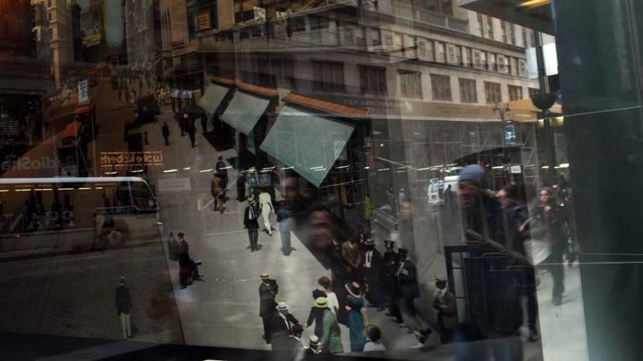 Pedestres nas ruas de Nova York, nos Estados Unidos