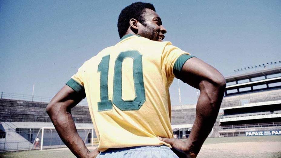 Pelé com a camisa 10 da Seleção