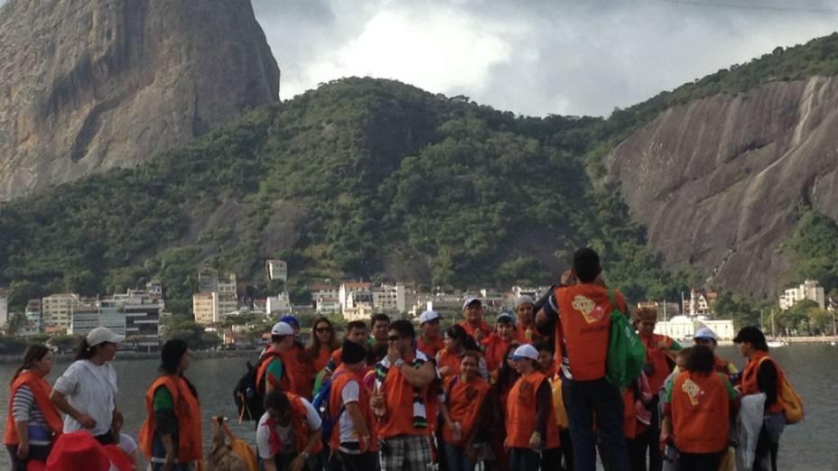 A peregrinação do Centro a Copacabana, na JMJ