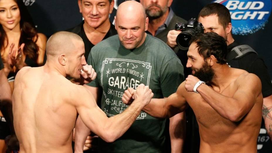 A pesagem do UFC 167: Georges St-Pierre x Johny Hendricks