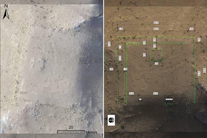 Monumento encontrado por arqueólogos em Petra
