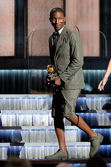 Pharrell Williams 57ª edição do Grammy, premiação que elege os melhores da música internacional, que acontece neste domingo (08)