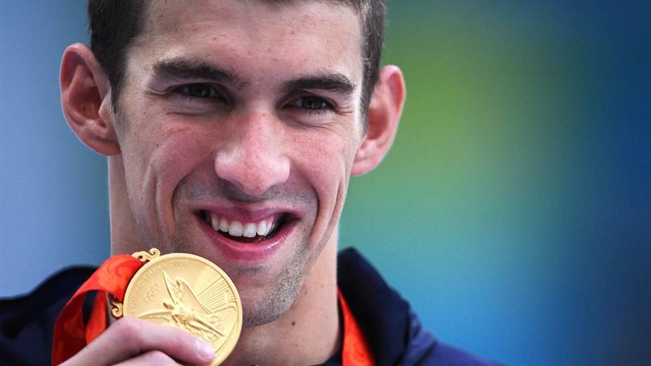 Michael Phelps foi ouro dos 200m borboleta de Pequim 2008