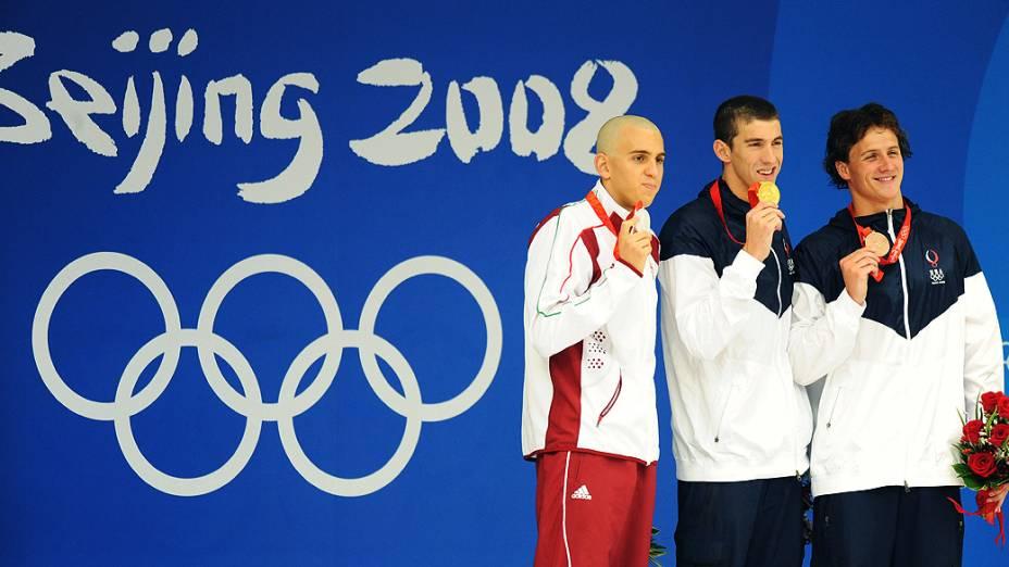 Michael Phelps foi ouro nos 400m medley de Pequim-2008
