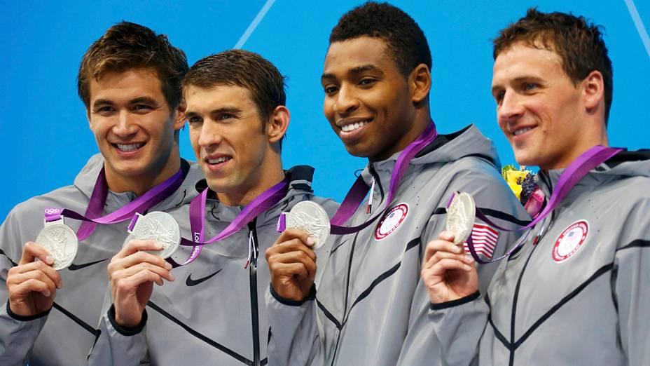 Michael Phelps foi prata nos 4x100m livre em Londres