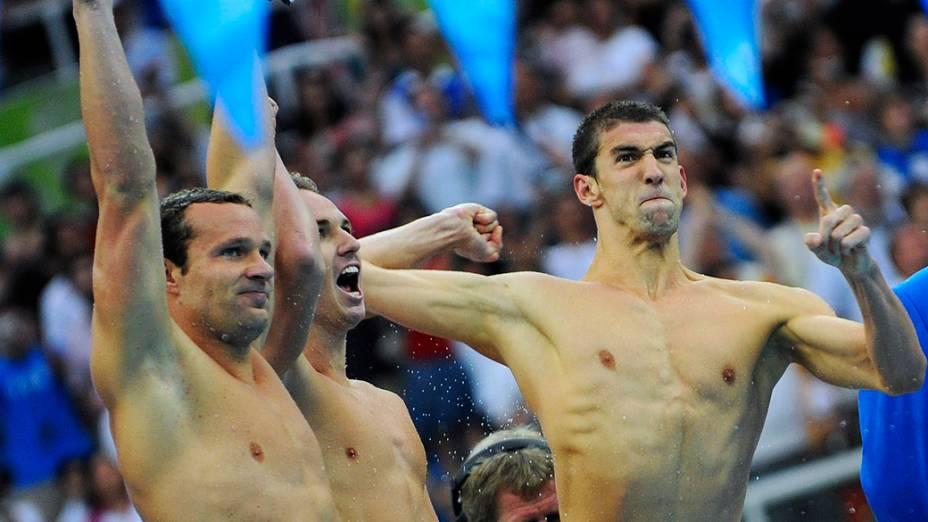 Michael Phelps foi ouro nos 4x100m livre de Pequim-2008