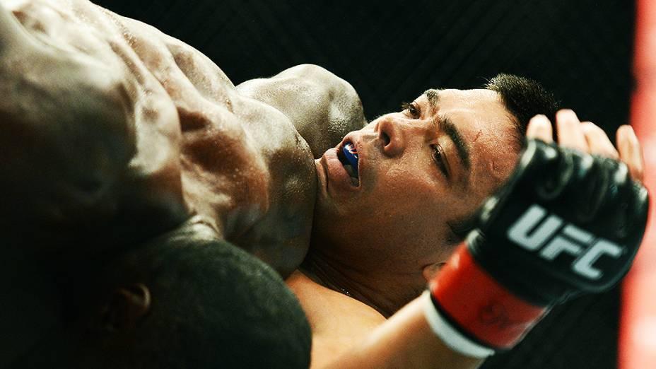 O brasileiro Lyoto Machida perde para o americano Phil Davis no Ultimate Fighting que volta ao Rio de Janeiro (RJ), para o evento UFC 163, ou simplesmente UFC Rio 4